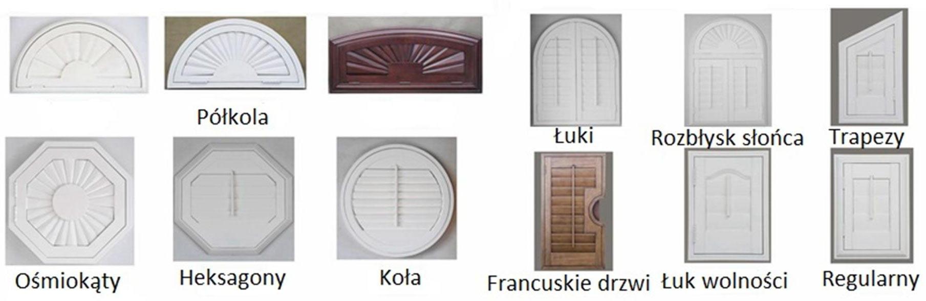 kształty okiennic shutters