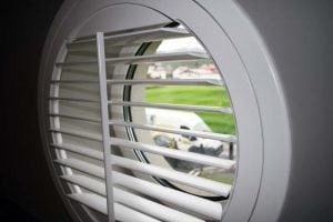 shutters w kształcie koła